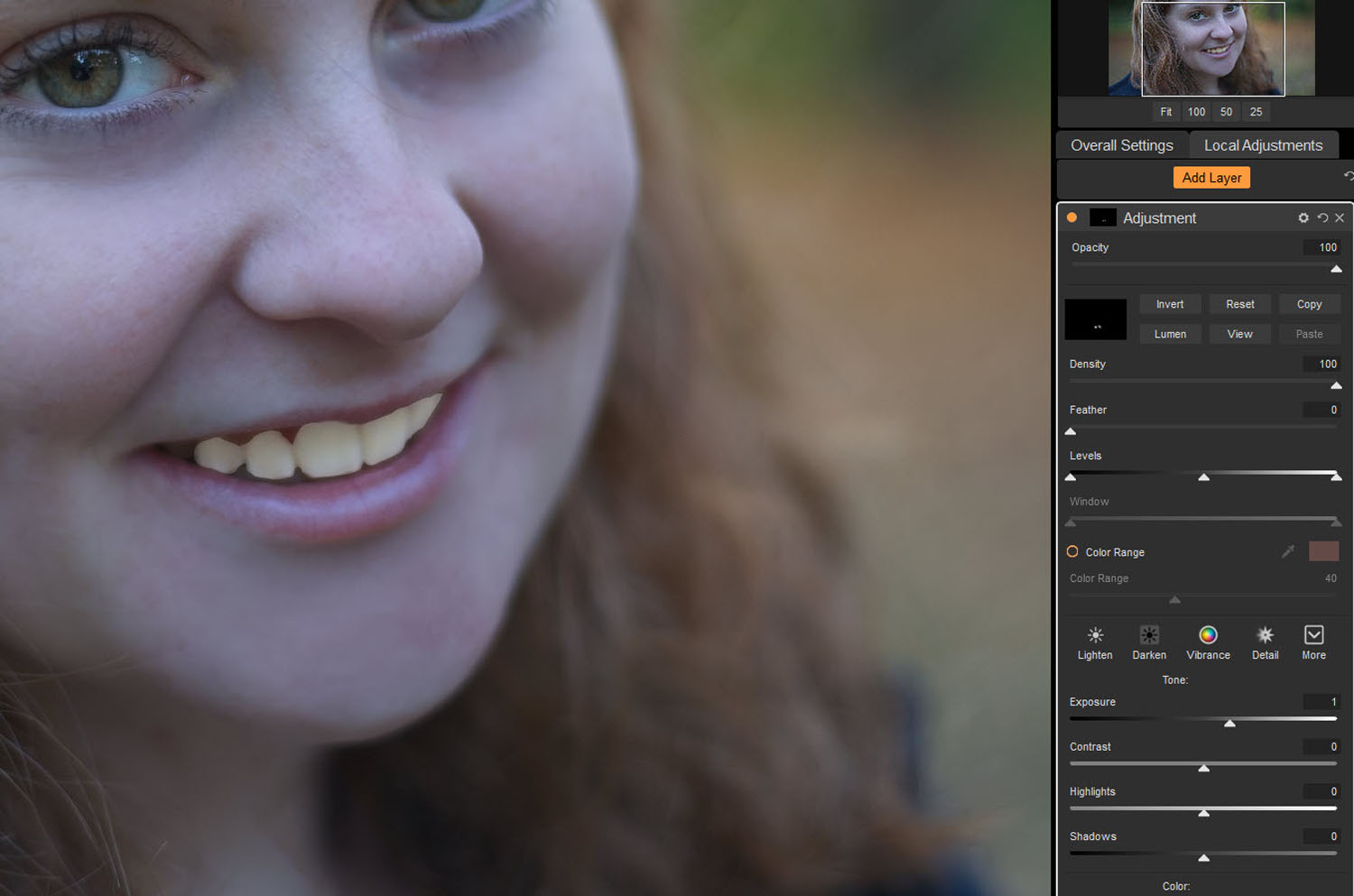 Tips for Portrait Processing with ON1 Photo RAW 2018 - overly white teeth