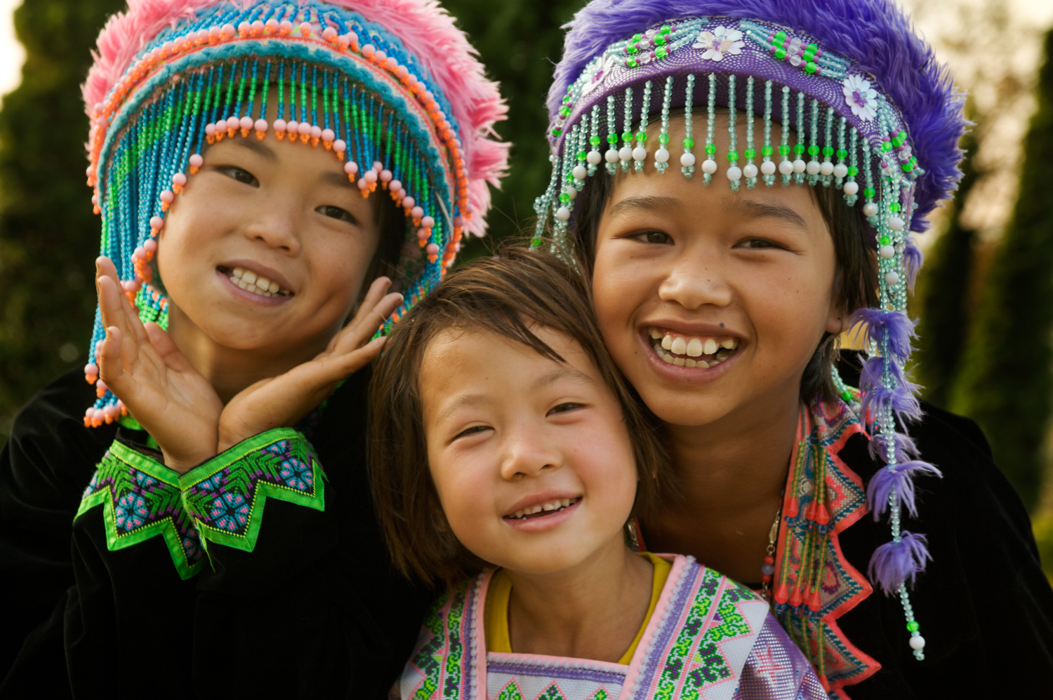 © Kevin Landwer-Johan The Best Kind of People to Photograph While Traveling Hmong Hill Tribe Girls