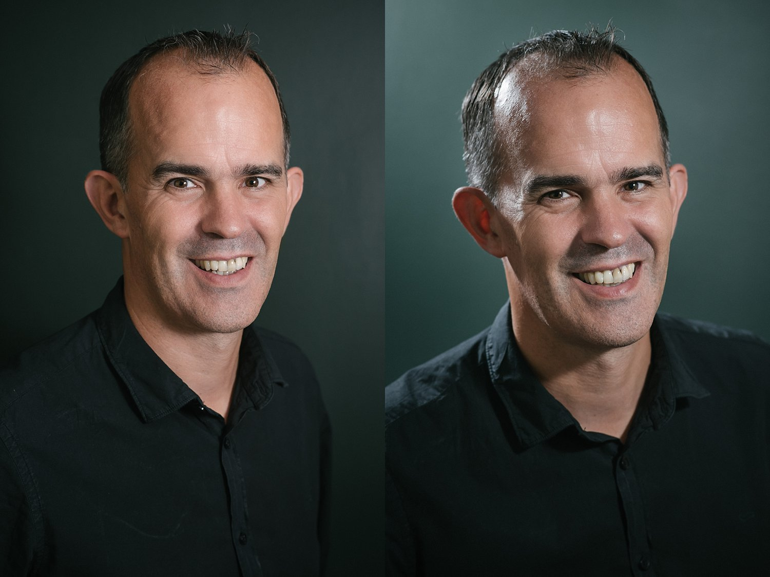 Side-by-side comparison between reflectors and diffusers for portraits