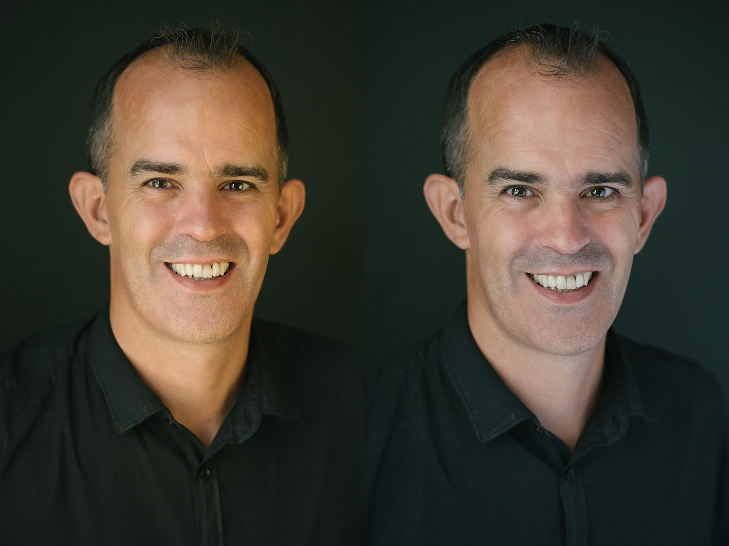 Comparison between reflectors and diffusers for portraits