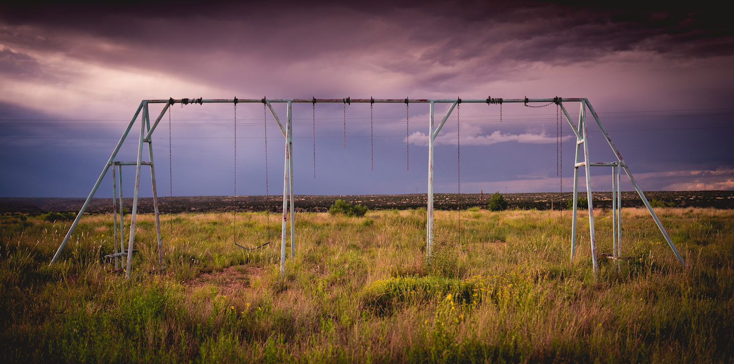 Road trip photography tips 01 - old swing set