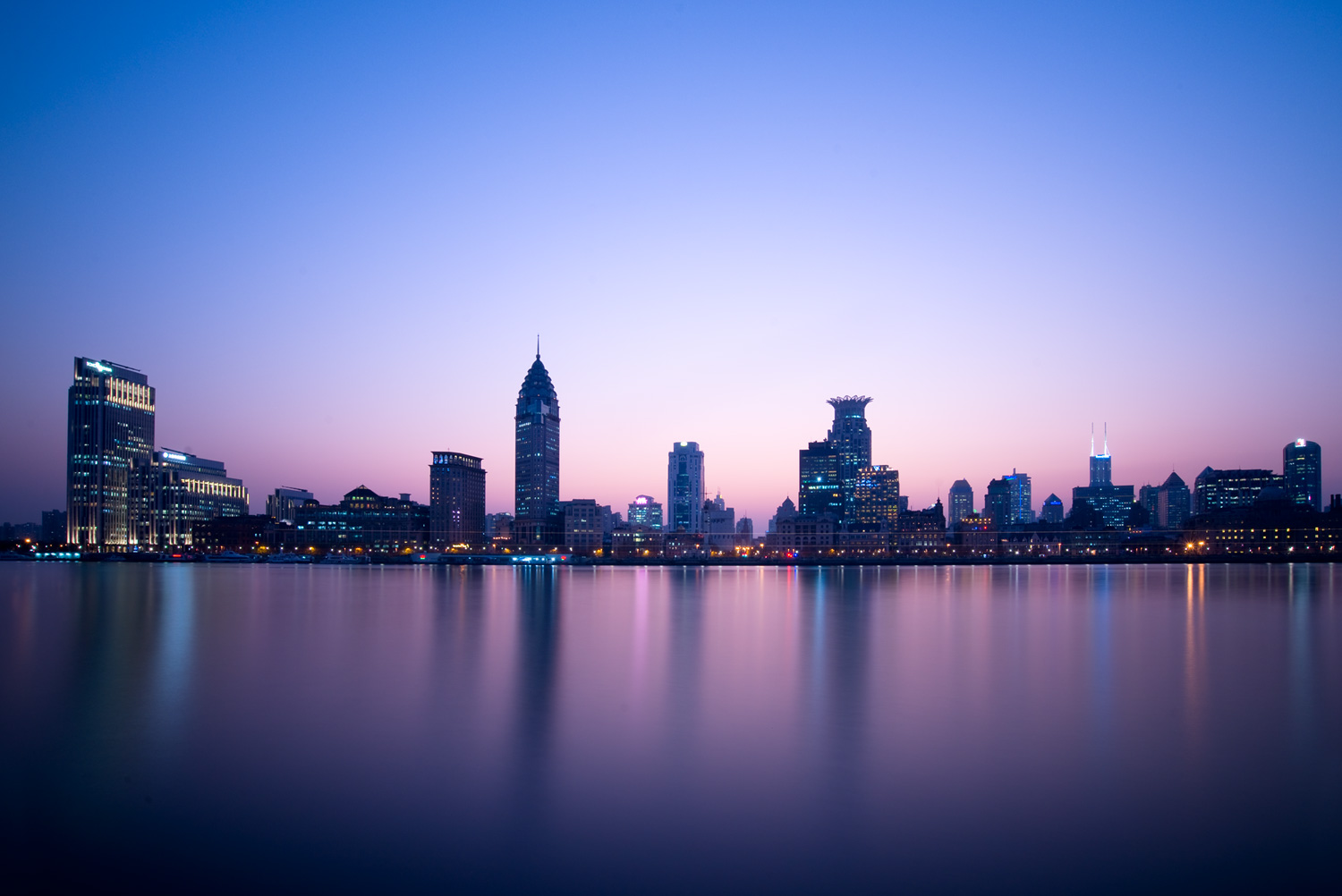 Shanghai - Using Neutral Density Filters for Cityscape Photography at Blue Hour
