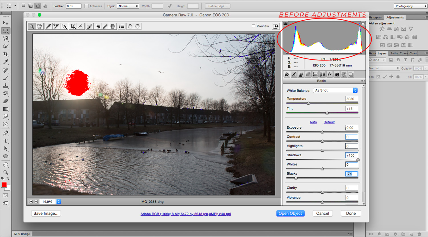 Balance Exposure in Adobe Camera Raw to Improve Your Photographs - Before Preview