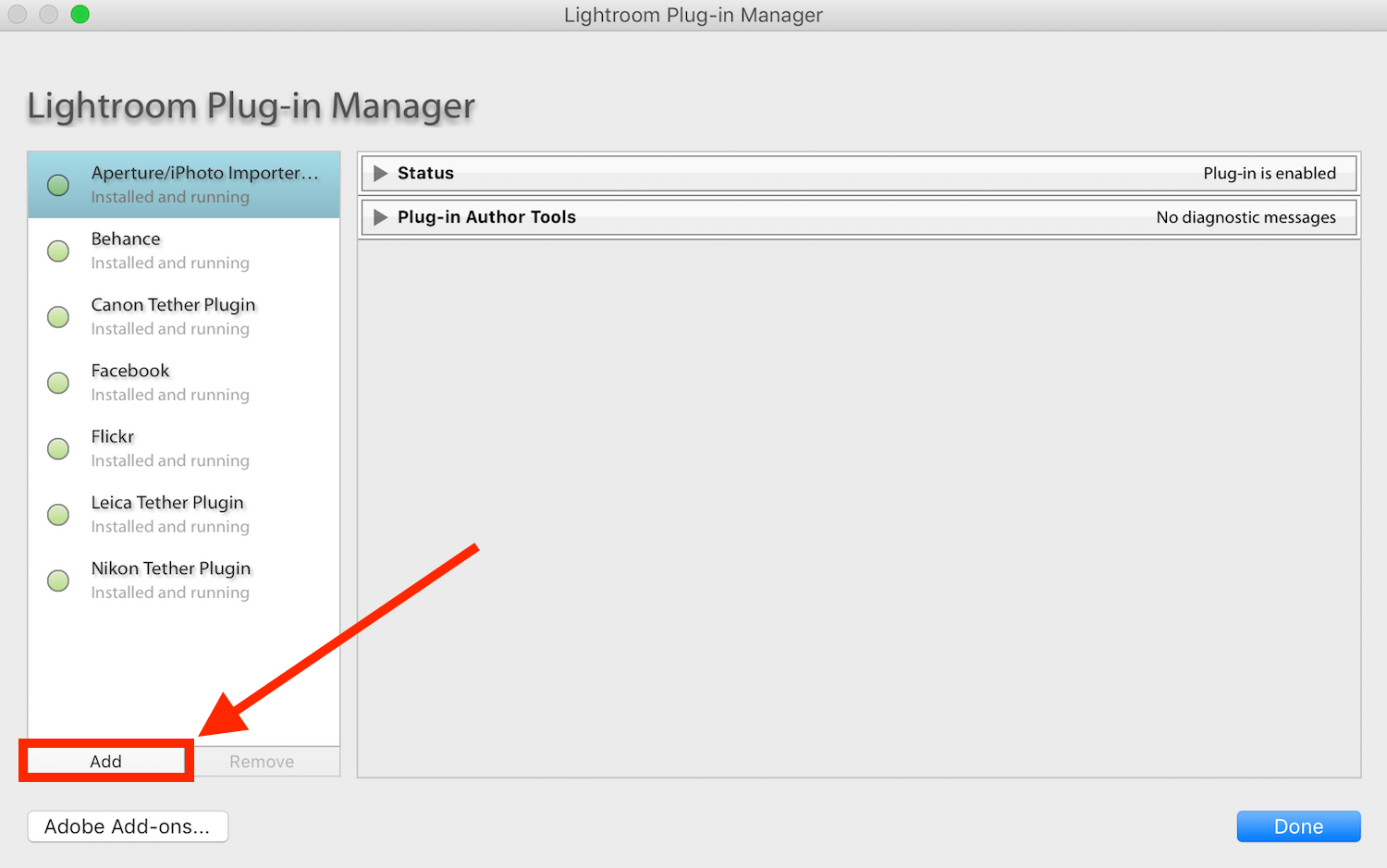 How to install Lightroom plugins - Plugin Manager