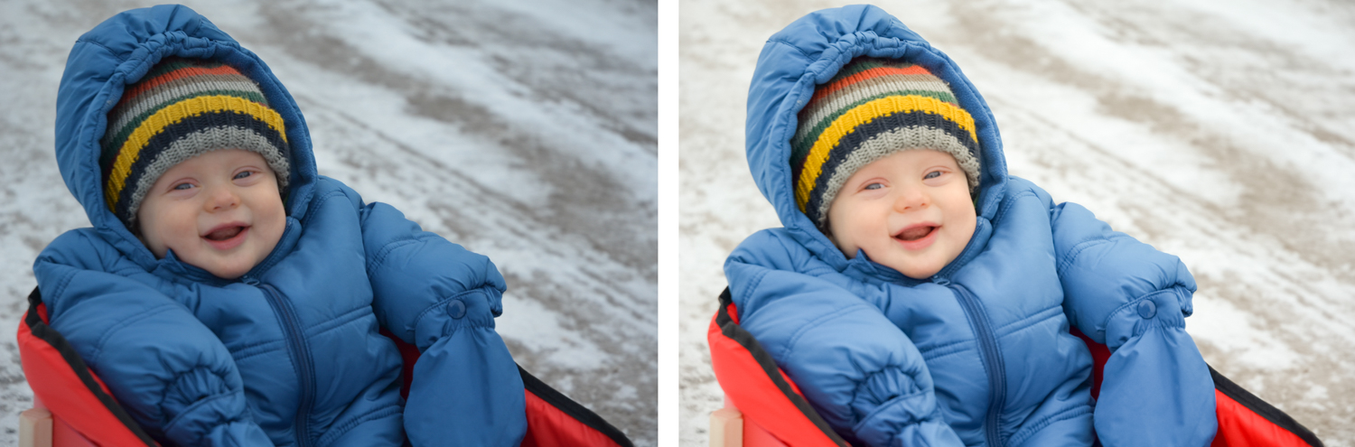 Image: Prior to using exposure compensation, I used to have to brighten all my winter photos with Li...