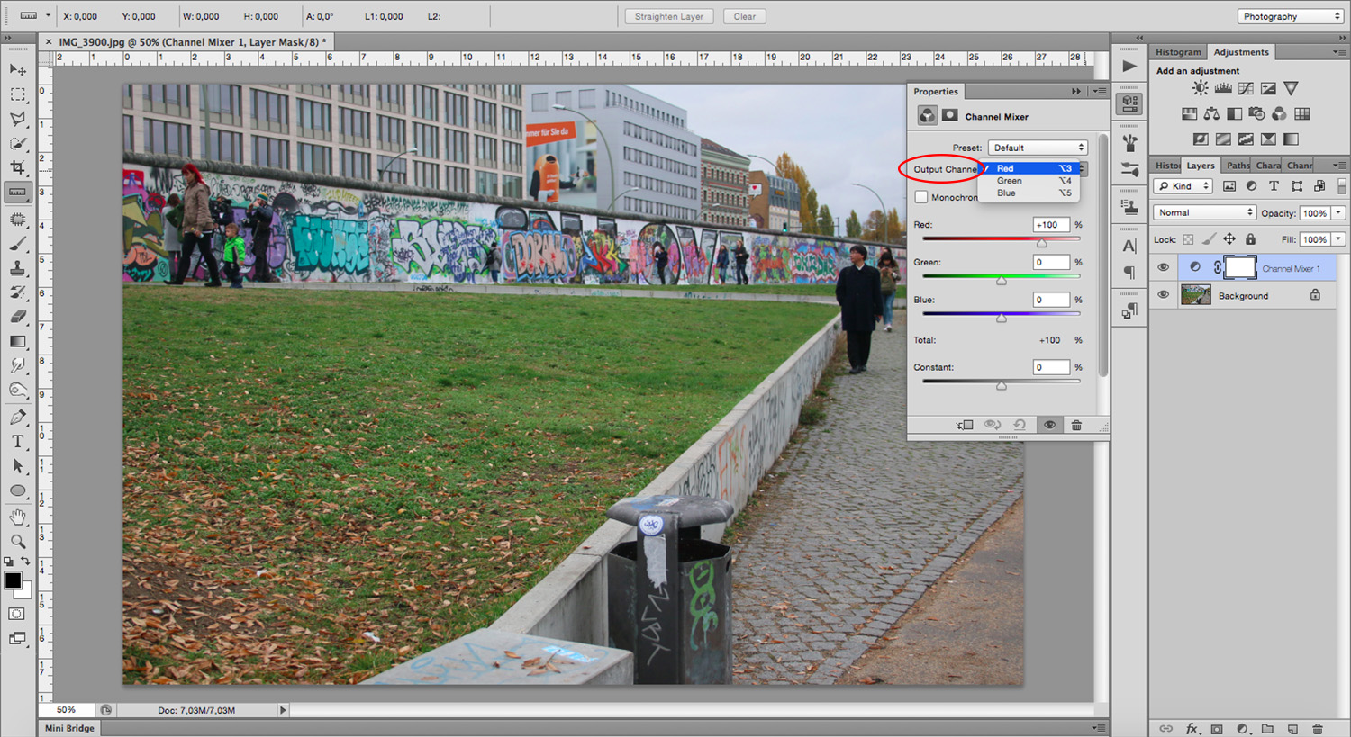 Output Channels - How To Mimic a Cross-Processing Effect in Photoshop