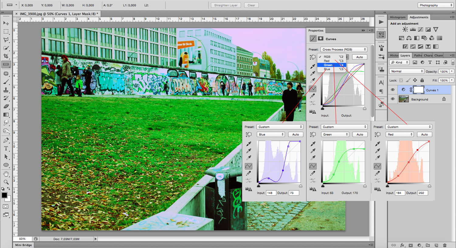 Curves - How To Mimic a Cross-Processing Effect in Photoshop