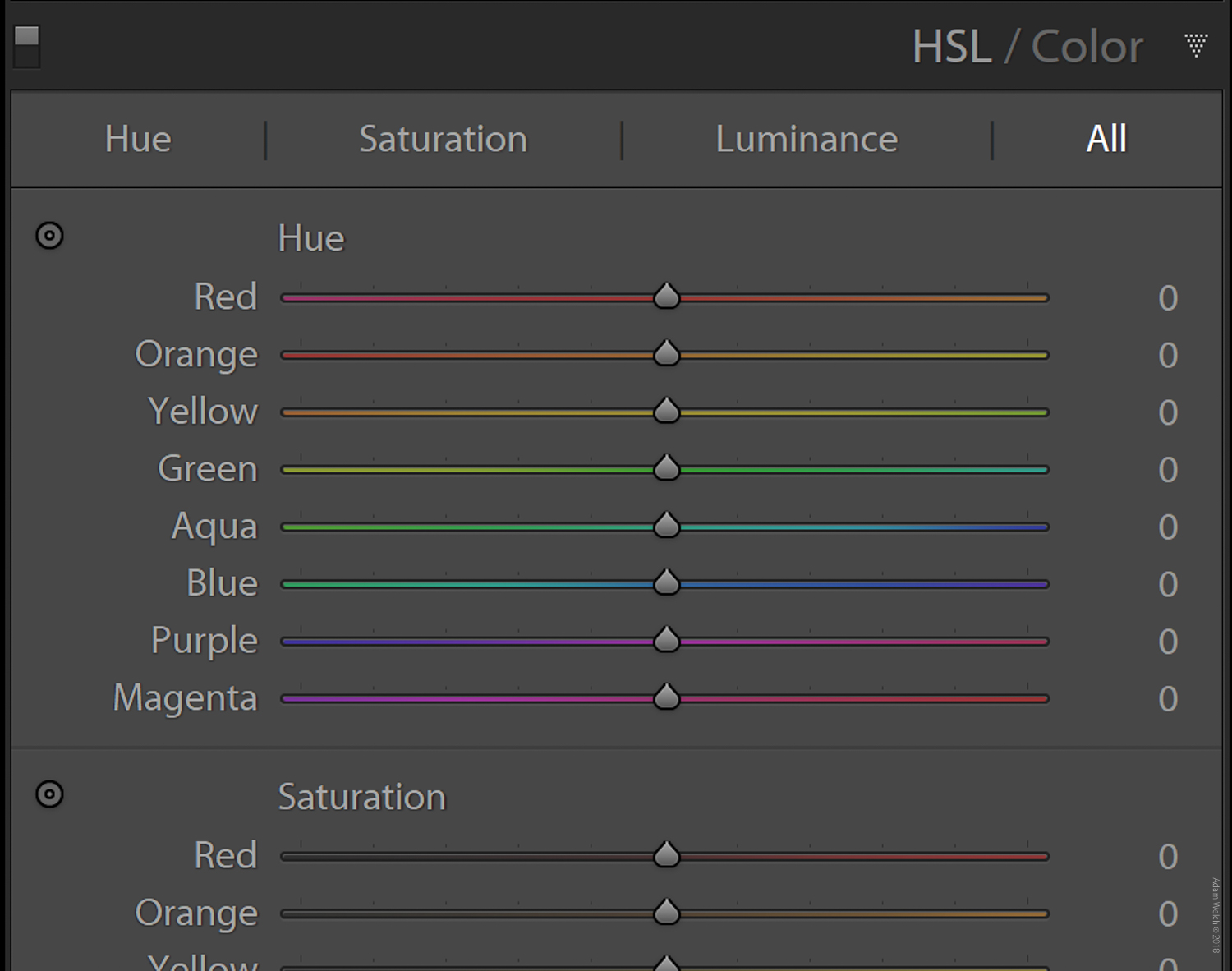 HSL Panel - 4 Tips for Capturing Autumn Colors