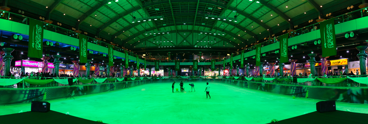Image: Al Shallal Ice Rink in Jeddah, Saudi Arabia – before color correction