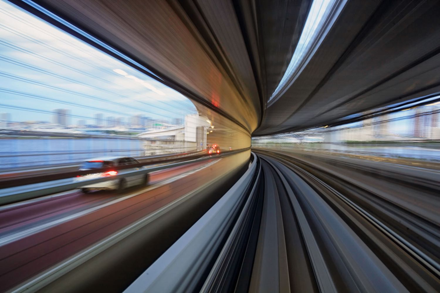 Image: This photo was taken from a moving train. The slower shutter speed created motion blur.