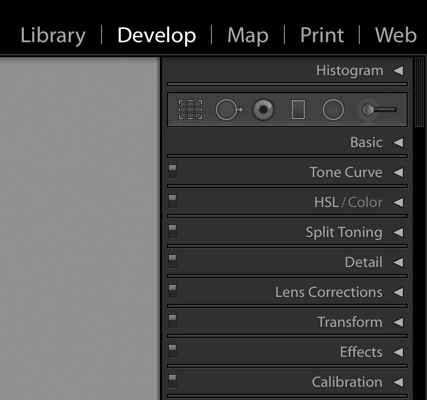 Tabs in Develop Module Lightroom-Darina Kopcok-DPS
