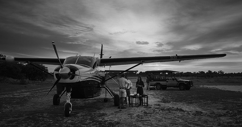 Image: Typical Southern Africa internal charter flight. Image courtesy of Moremi Game Reserve, Botsw...