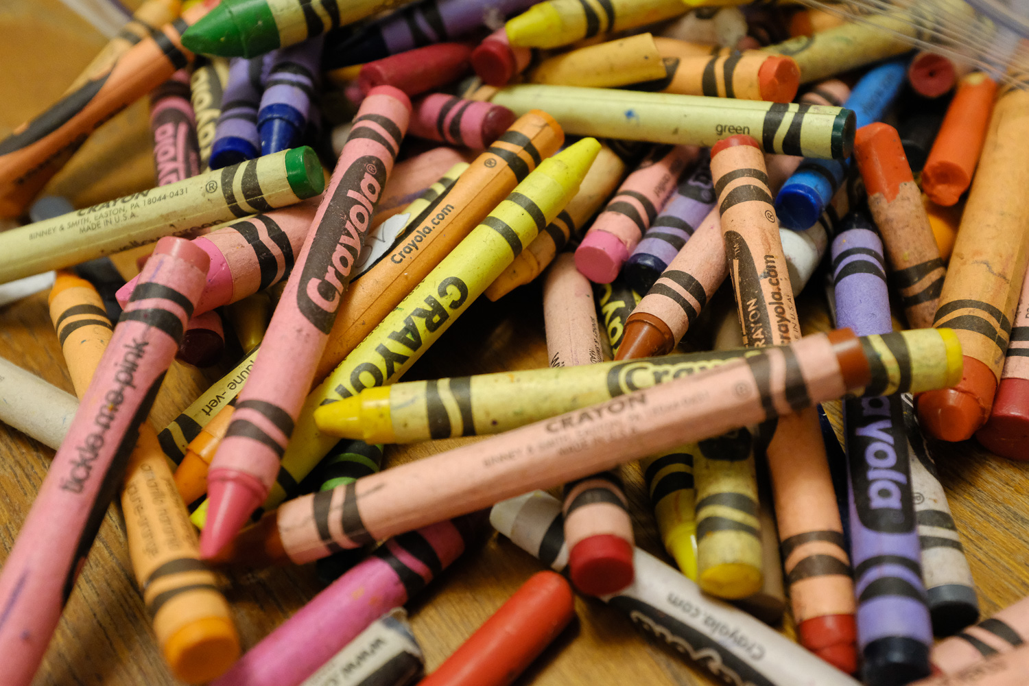Image: I ramped up the in-camera sharpening to get a clean, crisp image of these crayons. The foregr...