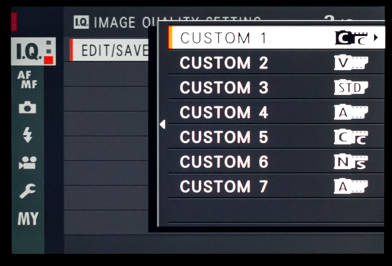 Image: This Fuji X100F has seven custom banks where you can save a huge variety of settings. You can...