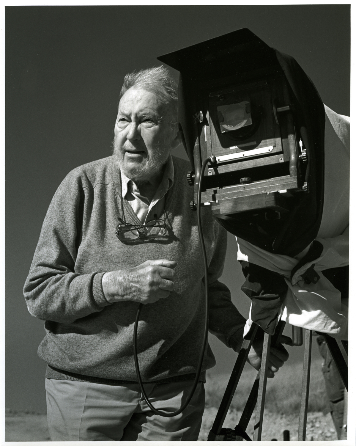 Image: Portrait of Morley Baer and his Ansco by David Fullagar