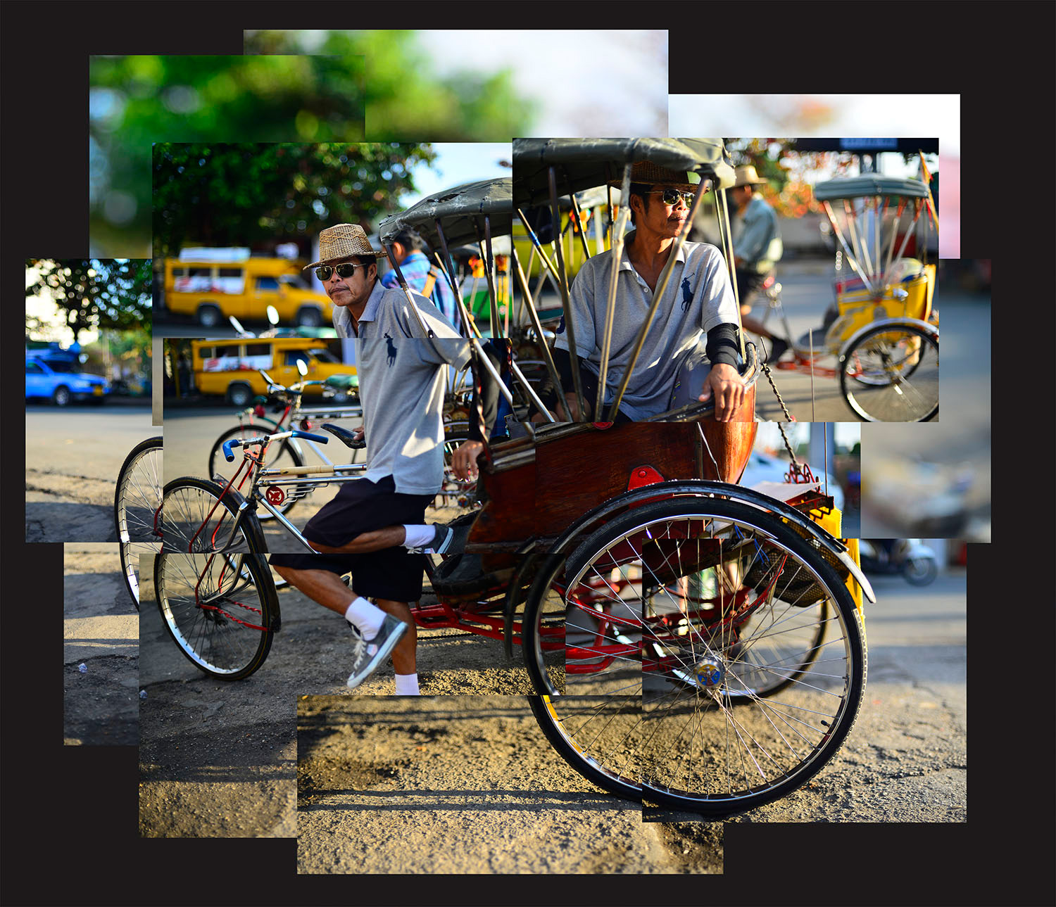 Tricycle Taxi How To Make Amazing Photomontages