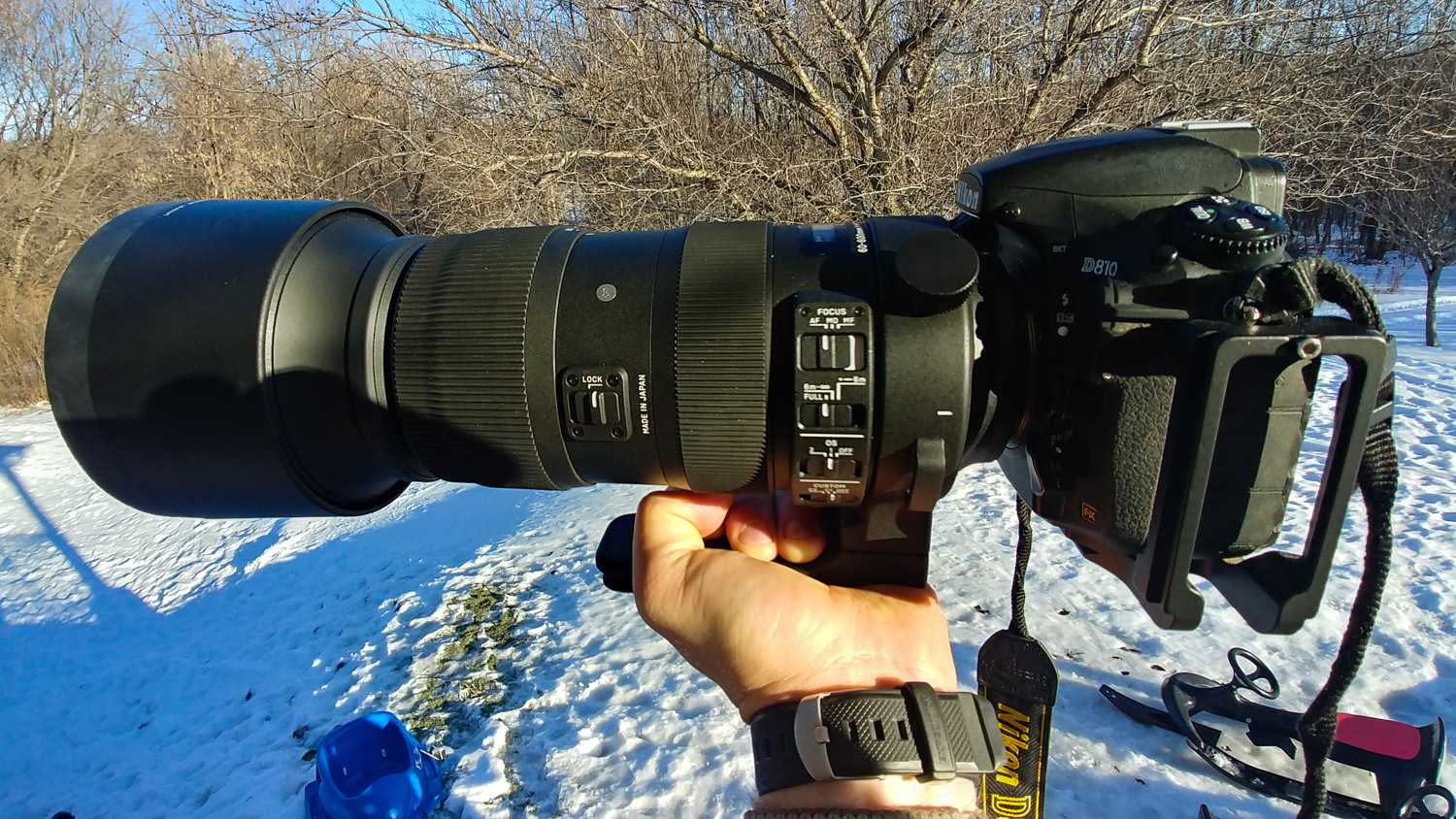 Image: Here, the lens is mounted to a Nikon D810, which I used to test the lens
