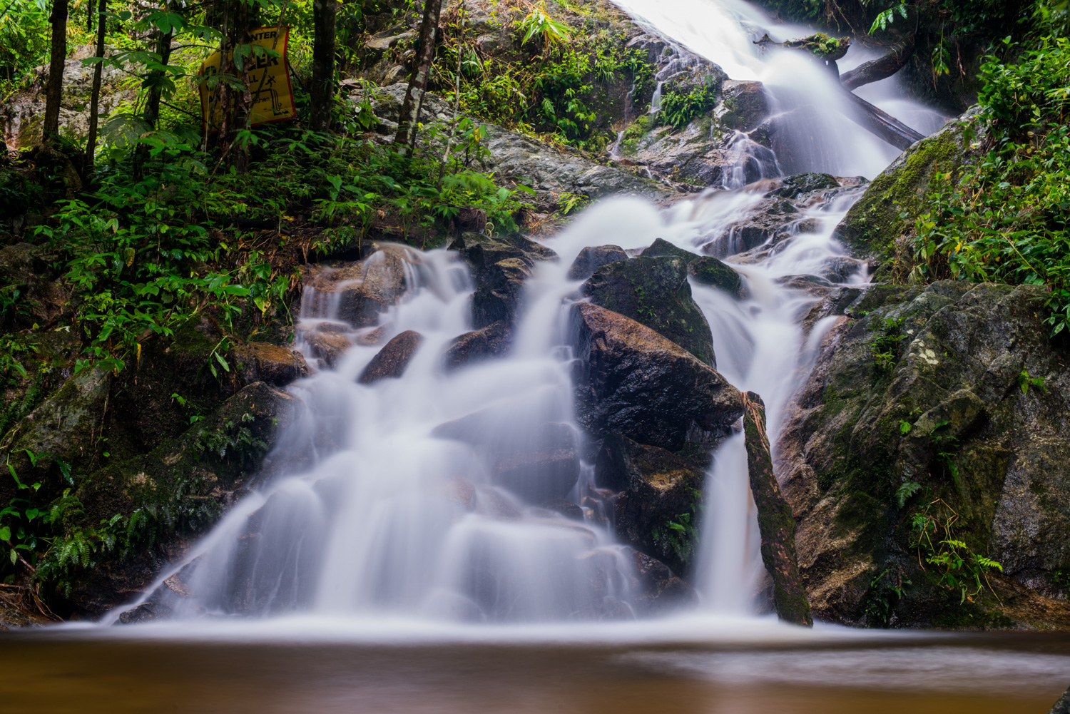 Twently Second Waterfall Using a Slow Shutter Speed to a Create Sense of Motion