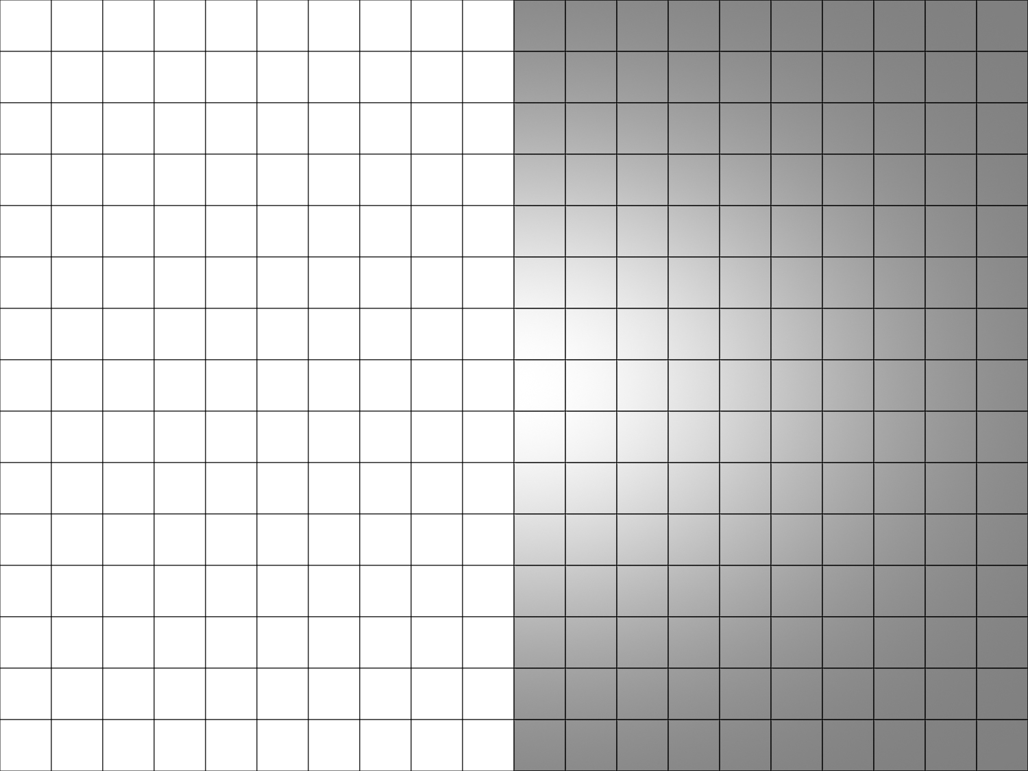 Image: Amount -50, Midpoint 0, Roundness 0, Feather +100