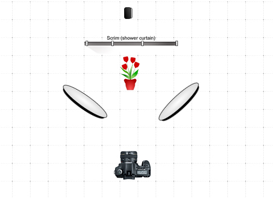 Image: Here is an alternative that uses just one light. The light source is placed behind the subjec...