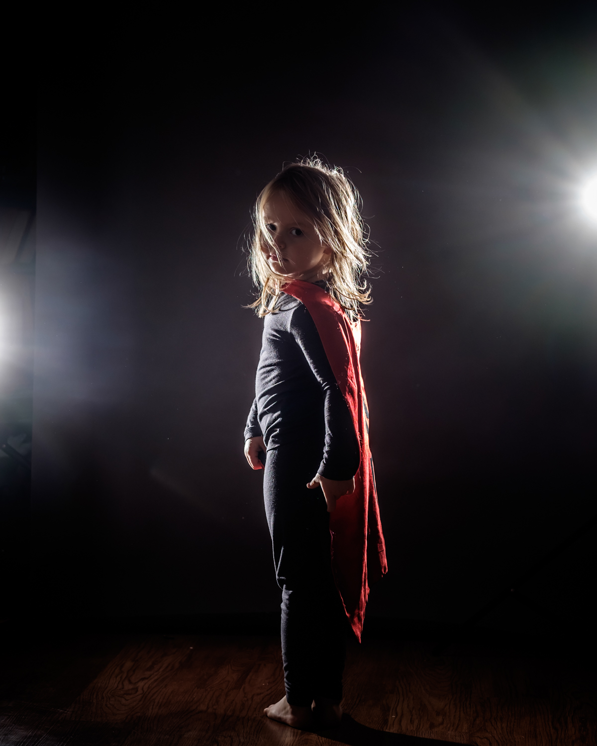 Image: Superheros are dramatic characters by nature. Using harsh backlight instead of soft front lig...