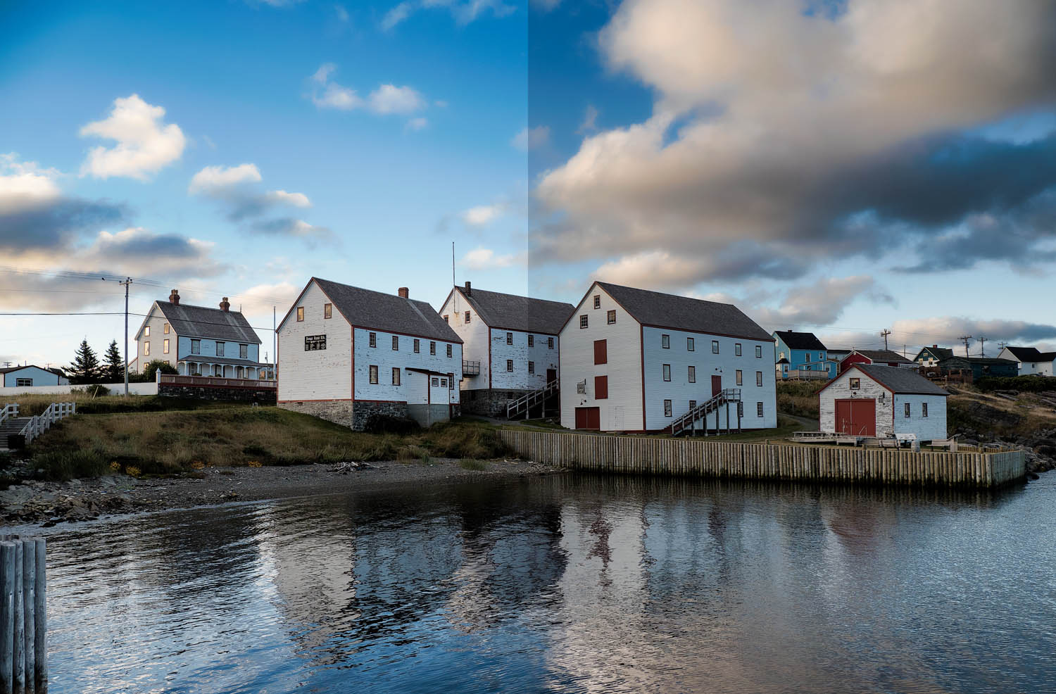 Image: The left shows the image normally processed with the right having a digital neutral density f...