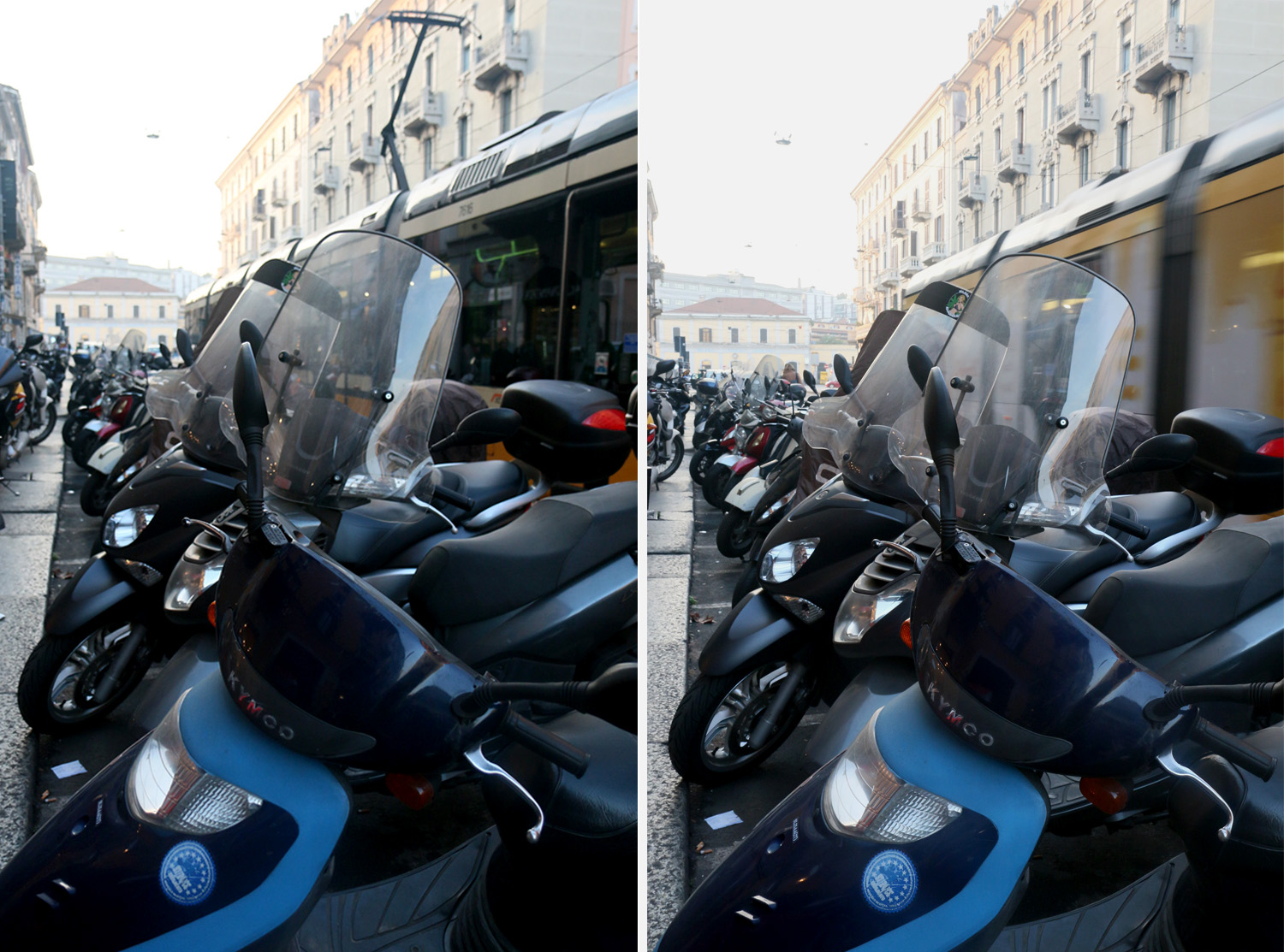 Image: Left image – SHUTTER PRIORITY:1/250, f/3.5, ISO 800 = Freeze Subject. Right image...