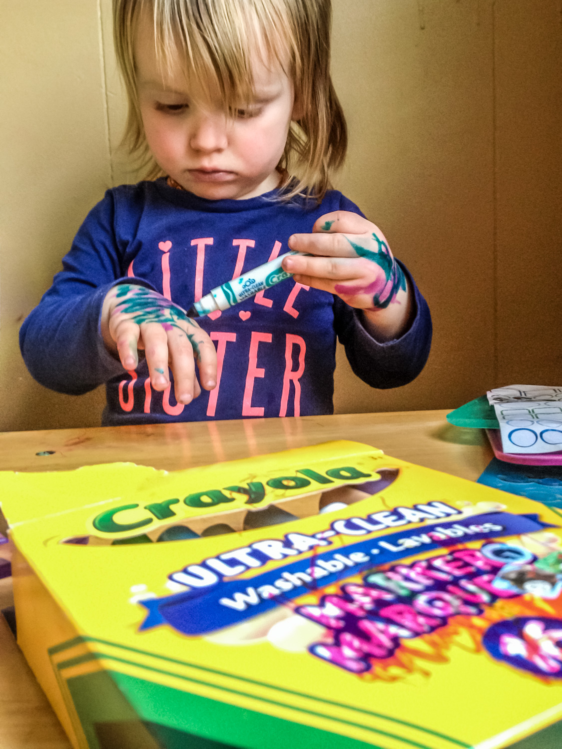 Image: A toddler with a marker, colors on everything without thought. We can be just as directionles...