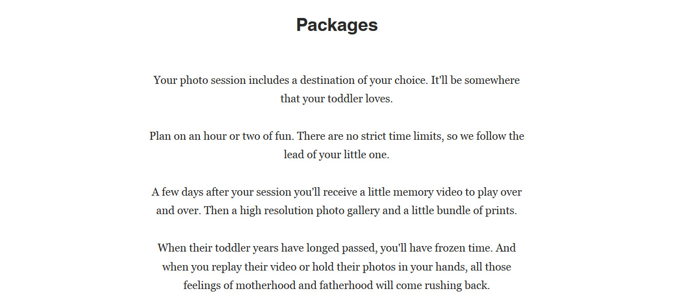 Image: When their toddler years have long passed, you'll have frozen time. And when you replay...