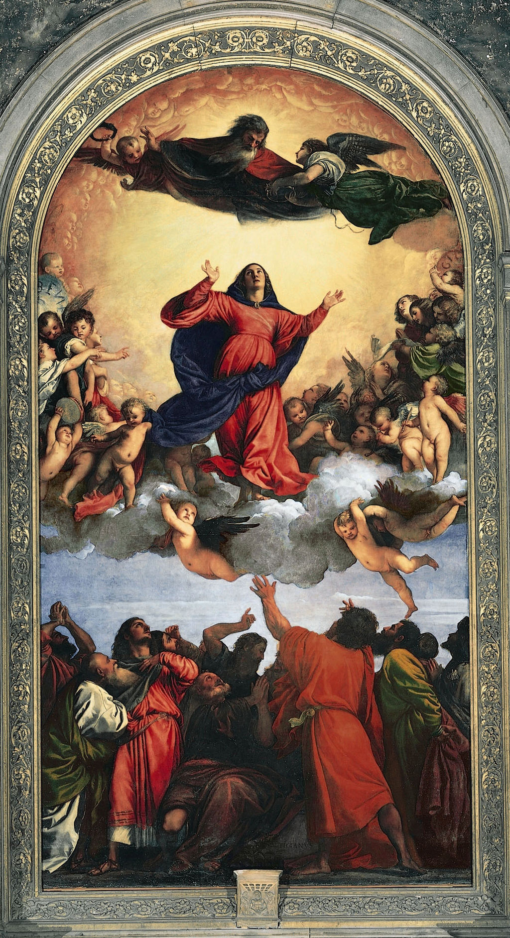 Image: Titian's Assumption of the Virgin with vermilion accents. Credit: Titian [Public domain...