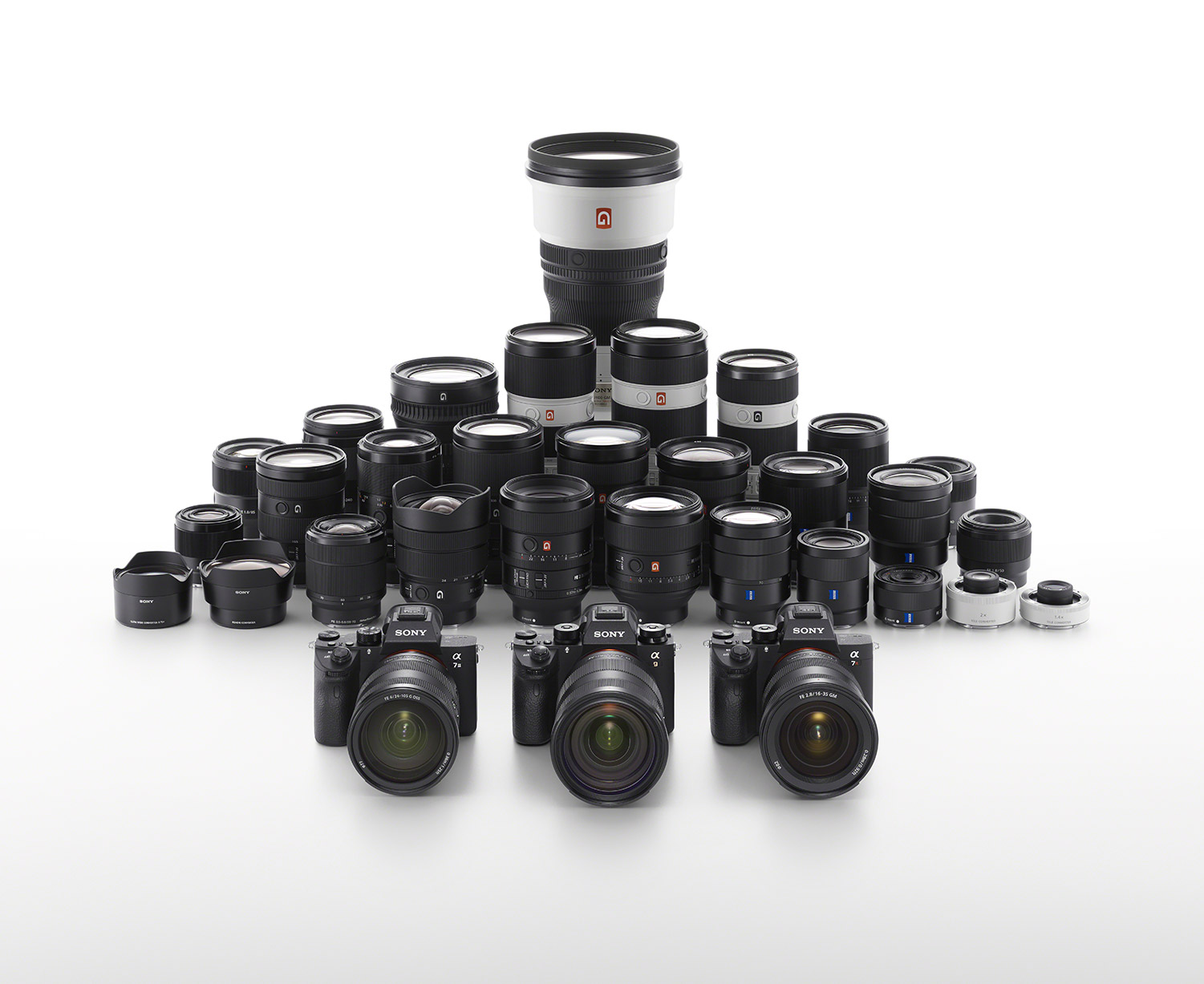Sony camera and lens lineup.