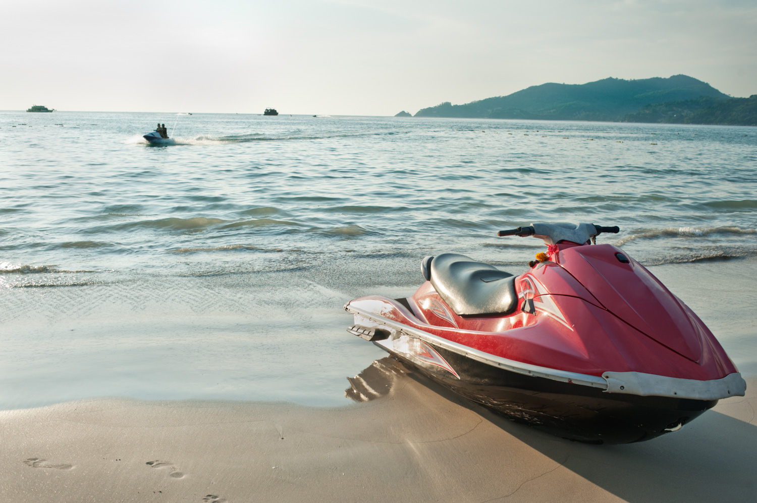 When do you need to obtain a model or property release? Jet Ski on the Beach