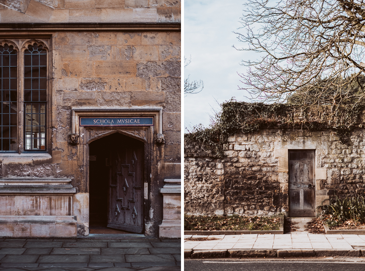 Image: Schools Quadrangle, Oxford, and a door on Parks Road, Oxford. © Charlie Moss