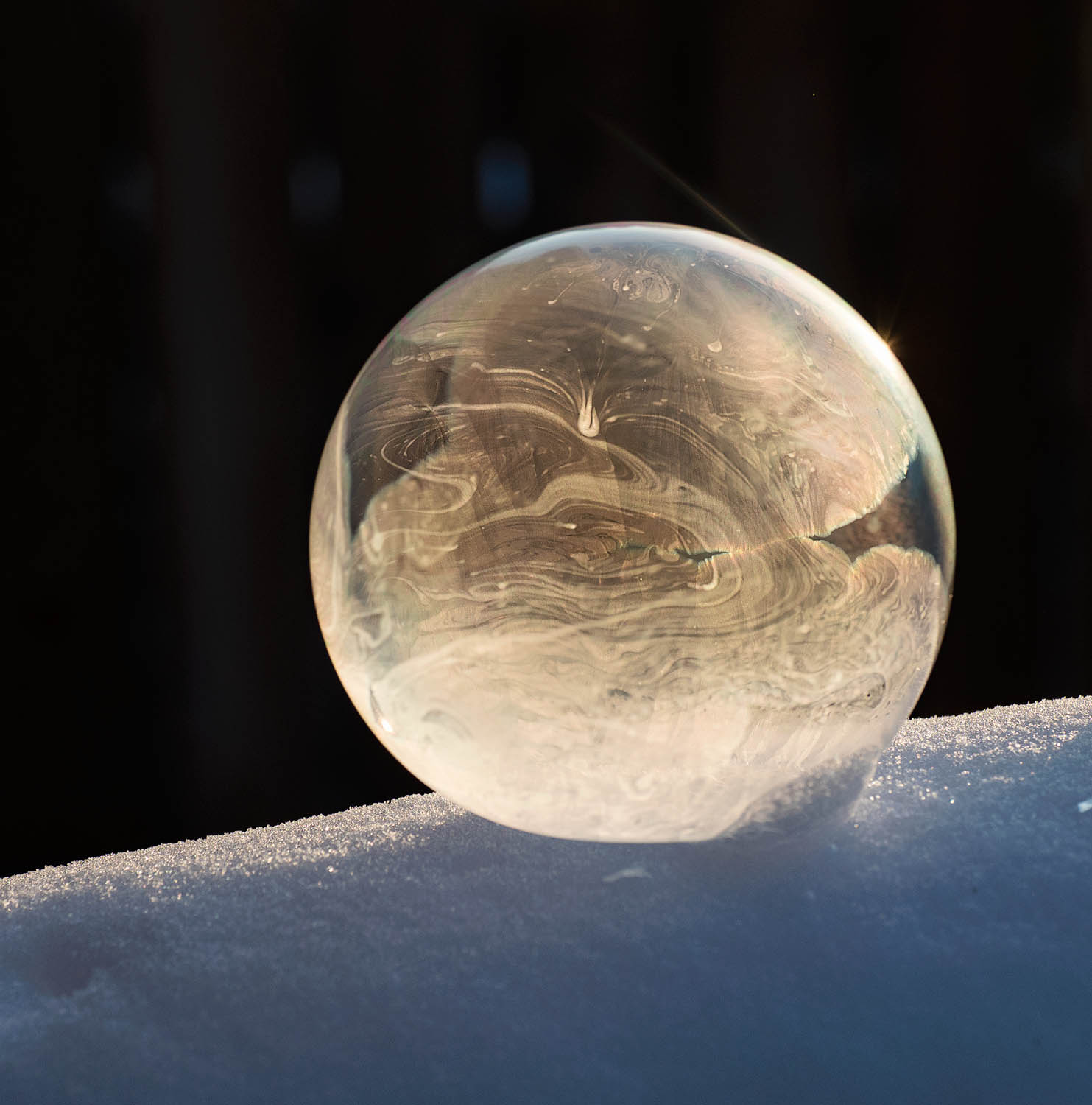 Image: Mostly frozen bubble