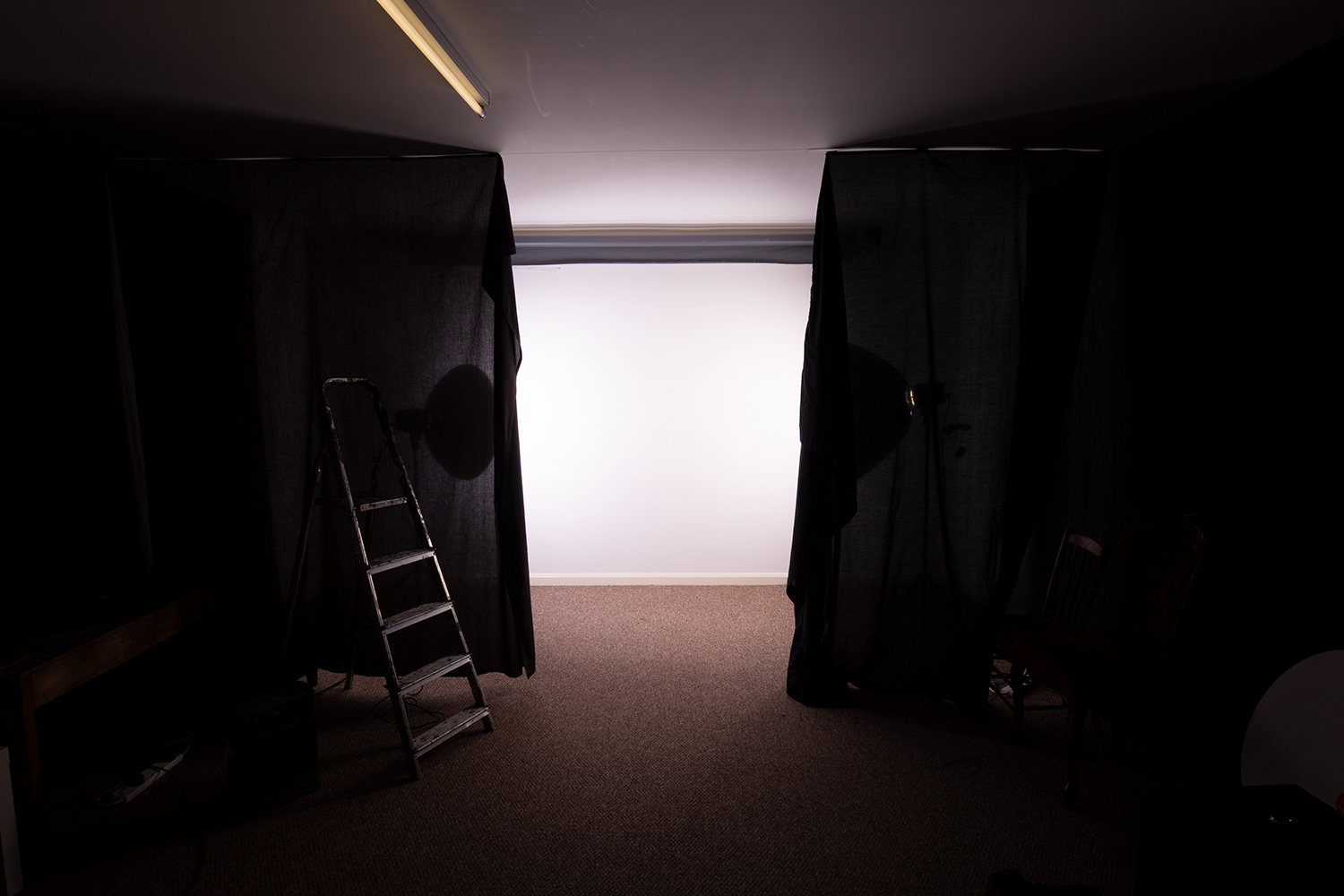 Image: To ensure light isn't going where you don't want it, flag your background lights....