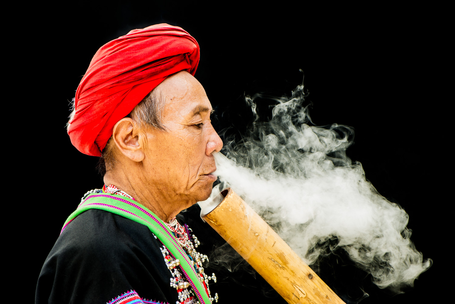 How To Use an Outdoor Studio for Natural Portraits Lahu Man Smoking