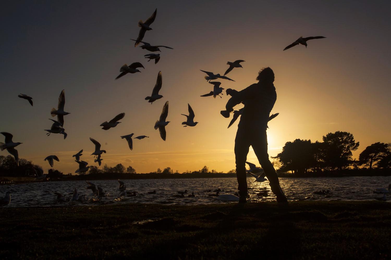 图片:这是拍摄剪影的理想场所。这个人映衬着天空,......