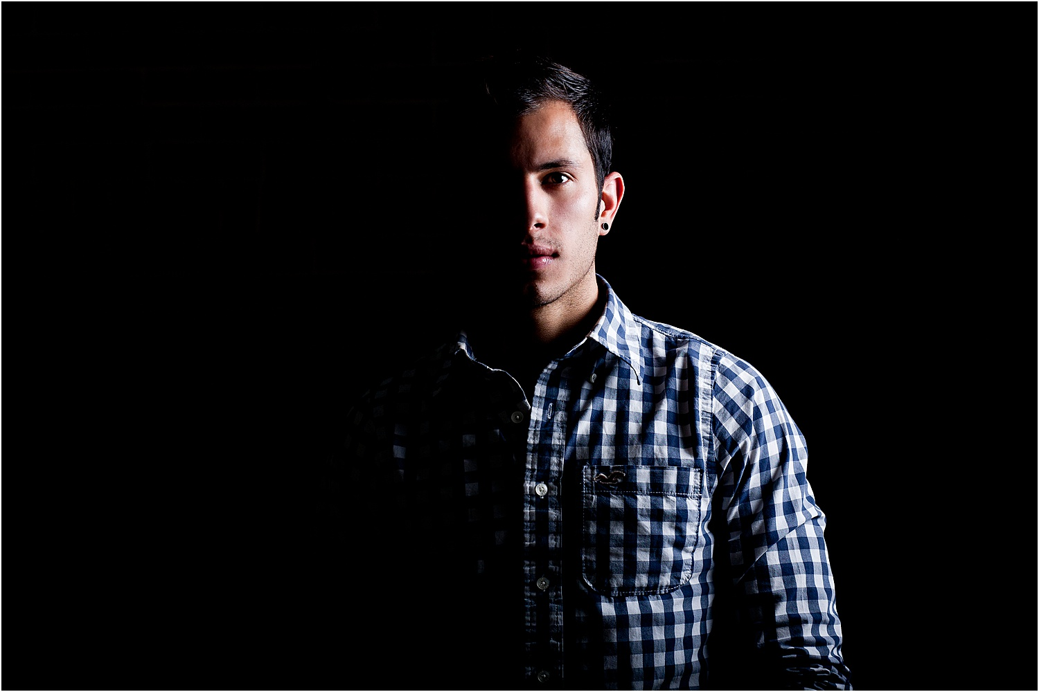 Image: You can light portraits creatively when you have control of the space and lighting.