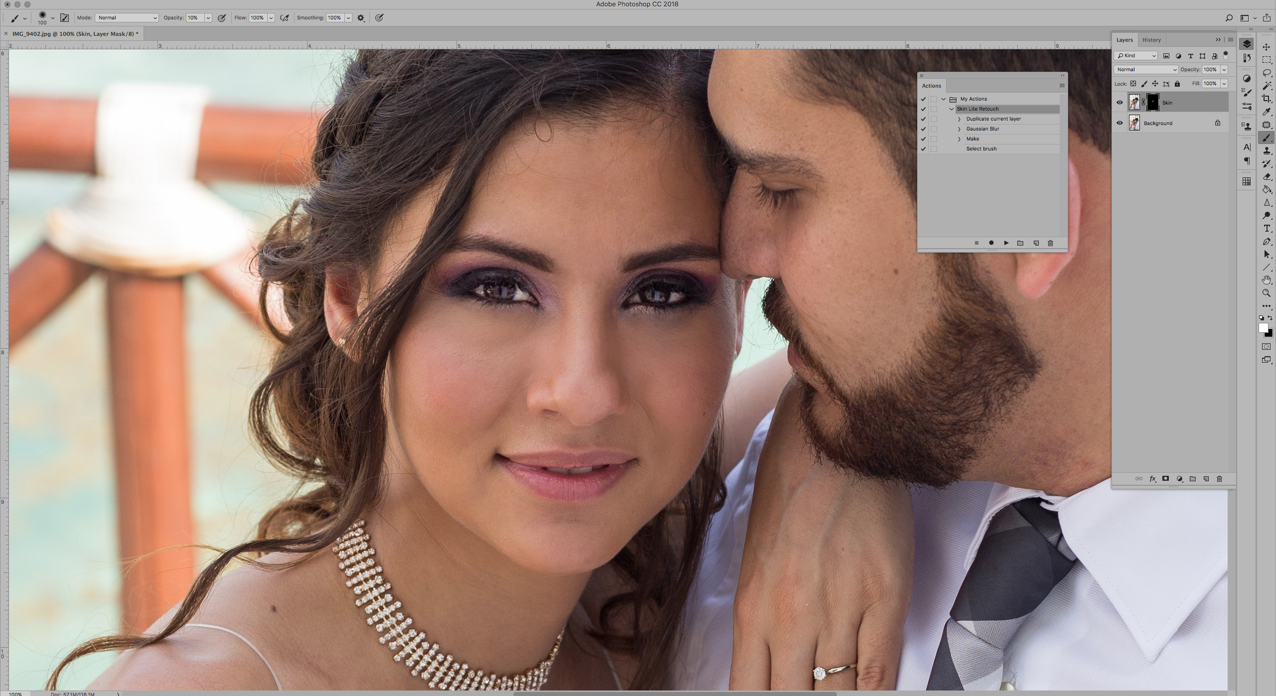 How to Create and Use a Light Skin Smoothing Action in Photoshop