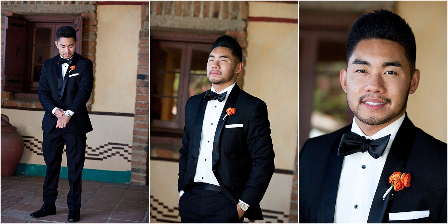 Image: Photographing the groom at three different crops is a great way to add variety to the final i...