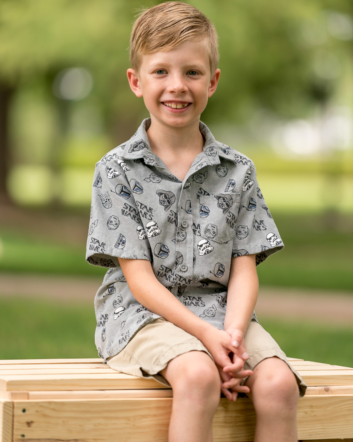 Image: This boy is on a wider version of the bench you'll build in this tutorial.