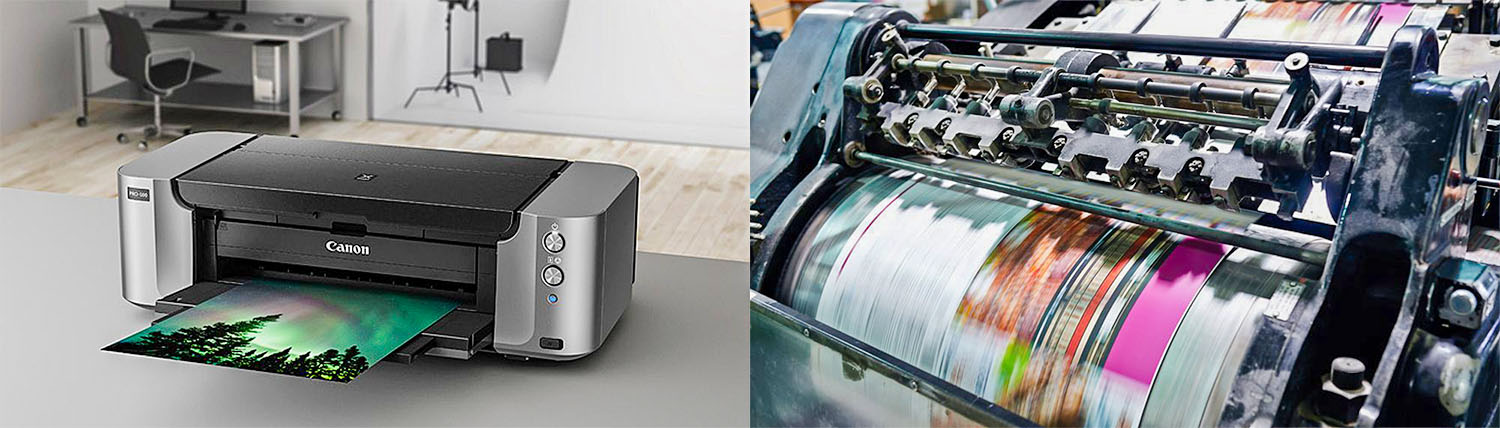 Image: Inkjet printers carefully step the paper through the machine in an extremely precise manner w...