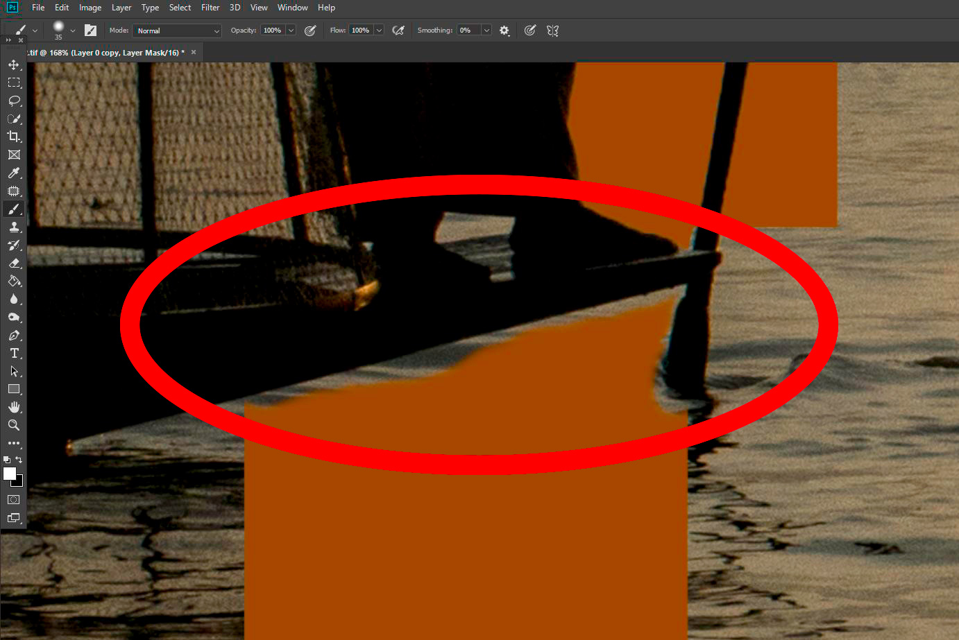 How To Use Photoshop to Create an Image Inside Your Text Refine the Image Mask