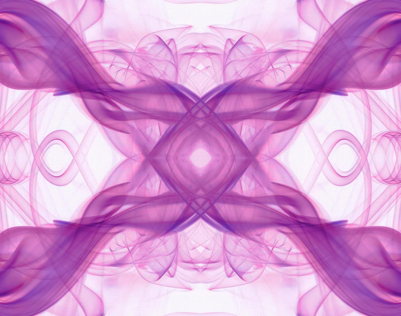 Abstract Smoke Photography - Negative version of smoke photograph - Purple Haze