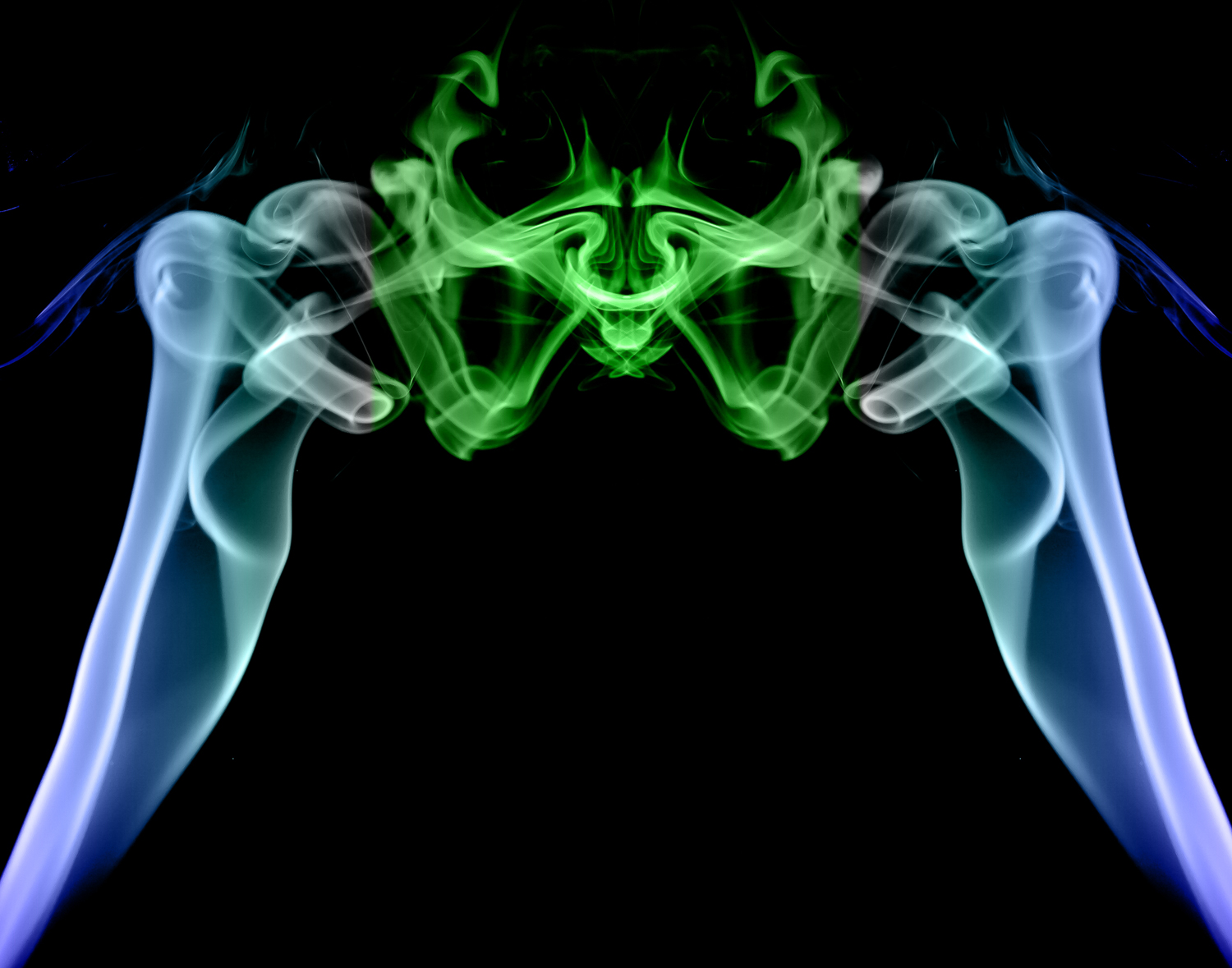 Abstract Smoke Photography - Smoke photo mirrored and colored with a gradient
