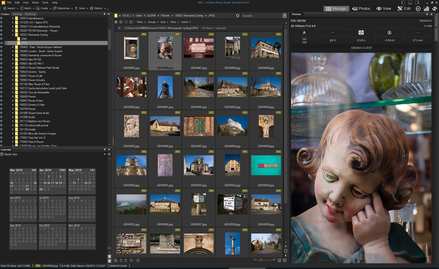 ACDSee Photo Studio Standard 2019 - folder pane