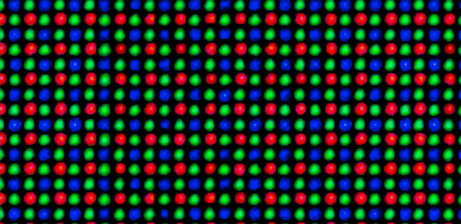 Image: The individual cells in the image sensor are covered by either a red, green, or blue filter c...