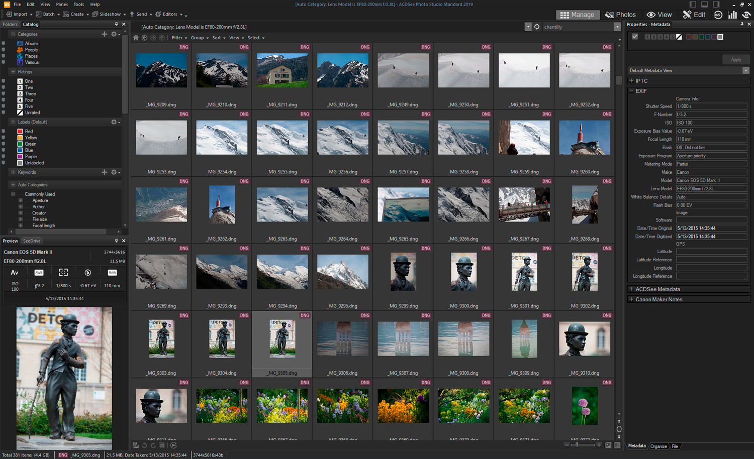 cataloging photos with ACDSee software