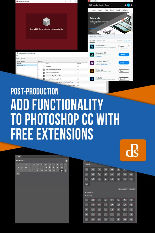 How to Add Functionality to Photoshop CC with Free Extensions