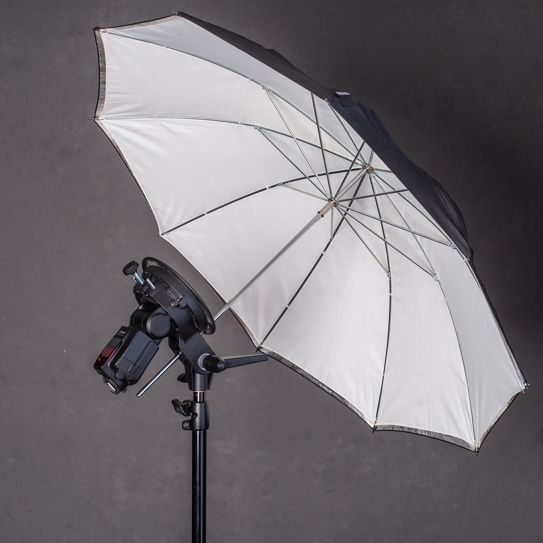 white umbrella studio lighting photography